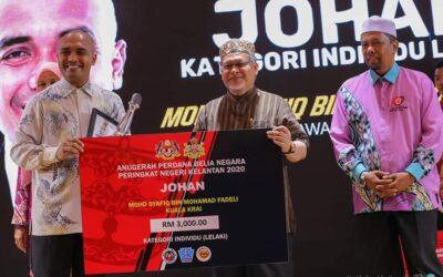 Alumni Falahiah Juara Anugerah Perdana Belia Negara 2020 Peringkat Negeri Kelantan